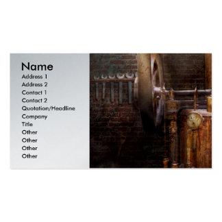 Steampunk - accionar el hogar moderno tarjetas de visita