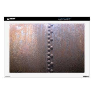 Steampunk Acero-plateó el regalo de la Metal-mirad Calcomanías Para 43,2cm Portátiles