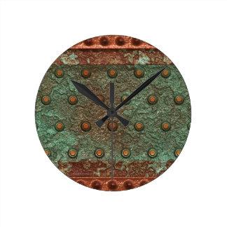 Steampunk Acero-plateó el reloj de pared de los pe