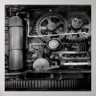 Steampunk - acero serio póster