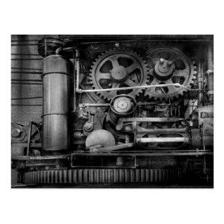 Steampunk - acero serio tarjetas postales