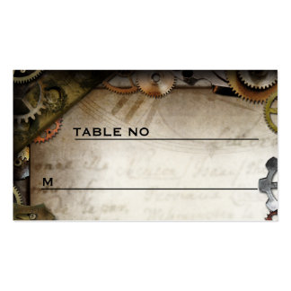 Steampunk adapta a la huésped Placecards del Tarjetas De Visita