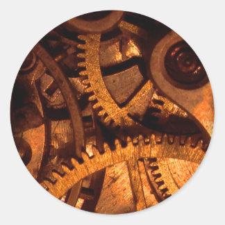 Steampunk adapta al pegatina del mecanismo