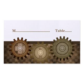Steampunk adapta la tarjeta del lugar, Brown Tarjetas De Visita