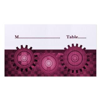 Steampunk adapta la tarjeta del lugar, rosa plantilla de tarjeta personal