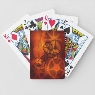 Steampunk adapta naipes de las piezas del reloj baraja de cartas