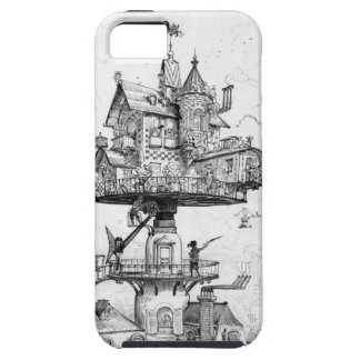 Steampunk Aerial House by Albert Robida iPhone 5 Cases