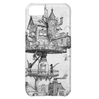 Steampunk Aerial House by Albert Robida iPhone 5C Cases