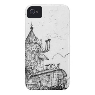 Steampunk Aerial House by Albert Robida iPhone 4 Case-Mate Cases