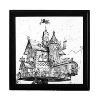 Steampunk Aerial House by Albert Robida Gift Boxes