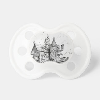Steampunk Aerial House by Albert Robida Baby Pacifiers