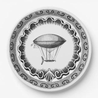 Steampunk Airship Paper Plate