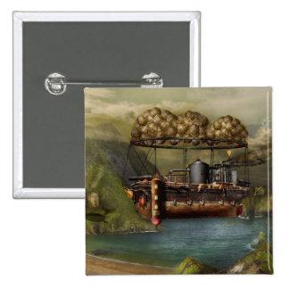 Steampunk - Airship - The original Noah's Ark Button