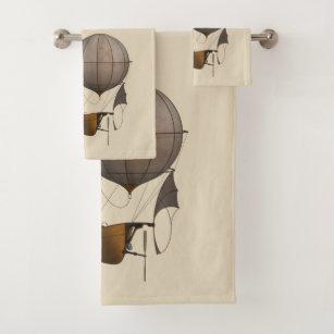 Steampunk Airship Towel Set