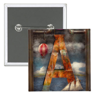 Steampunk - alfabeto - A está para la aventura Pins