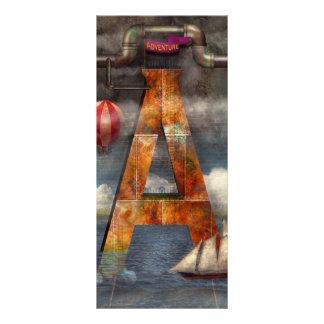 Steampunk - alfabeto - A está para la aventura Tarjetas Publicitarias