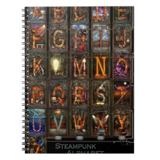 Steampunk - alfabeto - alfabeto completo libreta