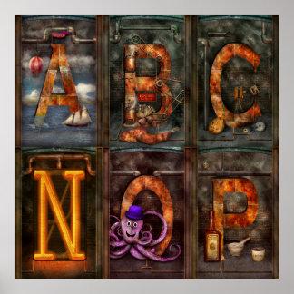 Steampunk - alfabeto - alfabeto completo poster