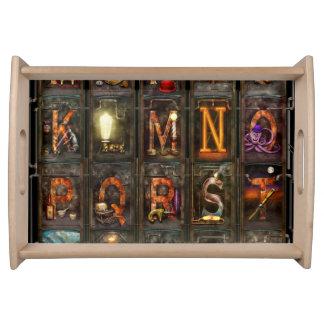 Steampunk - alfabeto - alfabeto completo bandeja