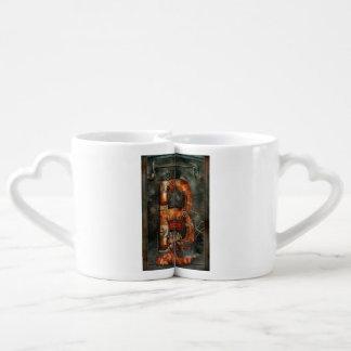 Steampunk - alfabeto - B está para las correas Set De Tazas De Café