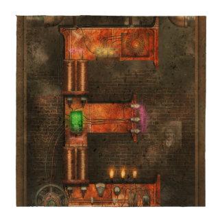 Steampunk - alfabeto - E está para la electricidad Posavasos