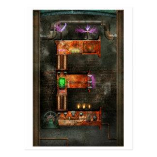 Steampunk - alfabeto - E está para la electricidad Postal