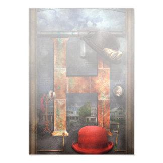 Steampunk - alfabeto - H está para los gorras Comunicado Personal