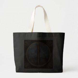 Steampunk - alfabeto - I está para la industria Bolsa Lienzo