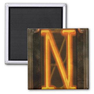 Steampunk - alfabeto - N está para Nixie Imán De Nevera