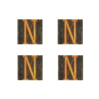 Steampunk - alfabeto - N está para Nixie Imán De Piedra