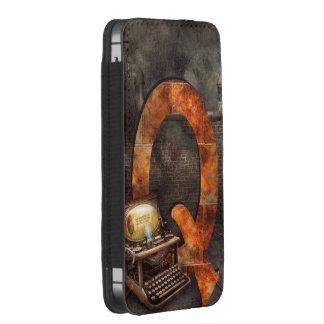Steampunk - alfabeto - Q está para Qwerty Bolsillo Para iPhone