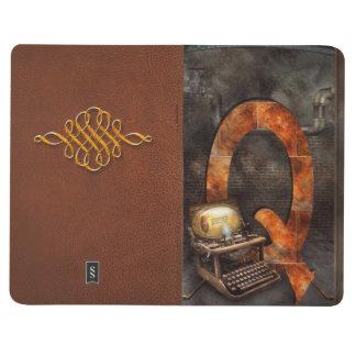 Steampunk - alfabeto - Q está para Qwerty Cuaderno