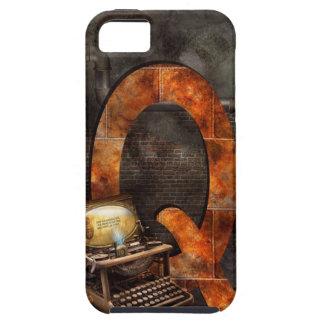 Steampunk - alfabeto - Q está para Qwerty iPhone 5 Funda