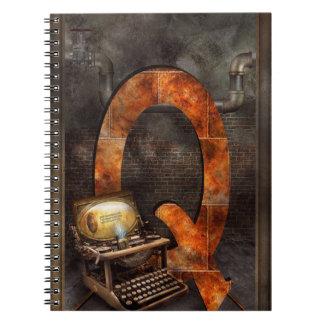 Steampunk - alfabeto - Q está para Qwerty Libro De Apuntes
