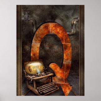 Steampunk - alfabeto - Q está para Qwerty Posters