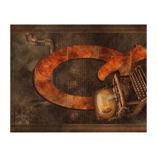 Steampunk - alfabeto - Q está para Qwerty Papel De Corcho