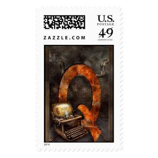 Steampunk - alfabeto - Q está para Qwerty Sellos