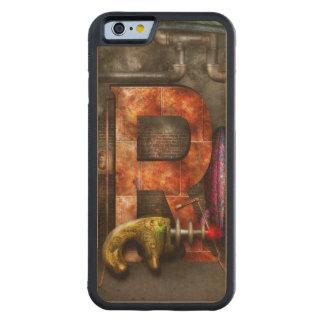 Steampunk - alfabeto - R está para el arma de rayo Funda De iPhone 6 Bumper Arce