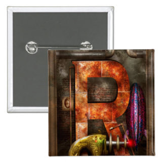 Steampunk - alfabeto - R está para el arma de rayo Pins