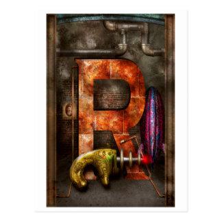 Steampunk - alfabeto - R está para el arma de rayo Postales