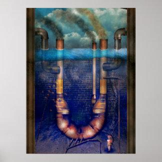 Steampunk - alfabeto - U está para Utopía Posters