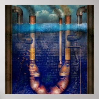 Steampunk - alfabeto - U está para Utopía Poster