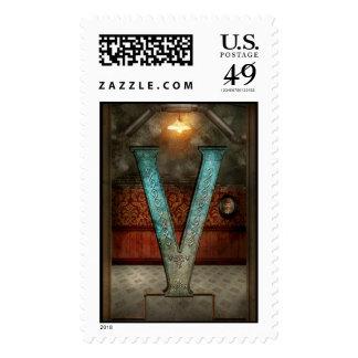 Steampunk - alfabeto - V está para el Victorian Sello