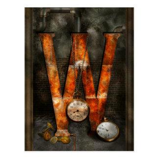 Steampunk - alfabeto - W está para los relojes Postal