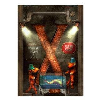 Steampunk - alfabeto - X está para Xenobiology Invitación