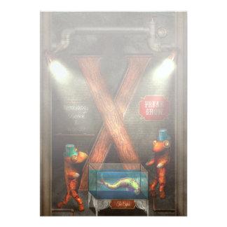 Steampunk - alfabeto - X está para Xenobiology Invitaciones Personales