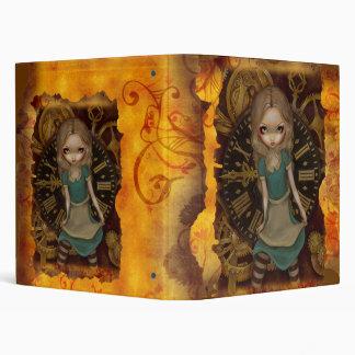 Steampunk Alice in Wonderland:  Alice in Clockwork Vinyl Binder