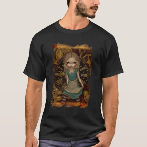 Steampunk Alice in Wonderland in Clockwork Shirt