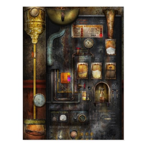Steampunk - All that for a cup of coffee Post Card