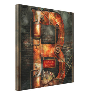 Steampunk - Alphabet - B is for Belts Canvas Prints